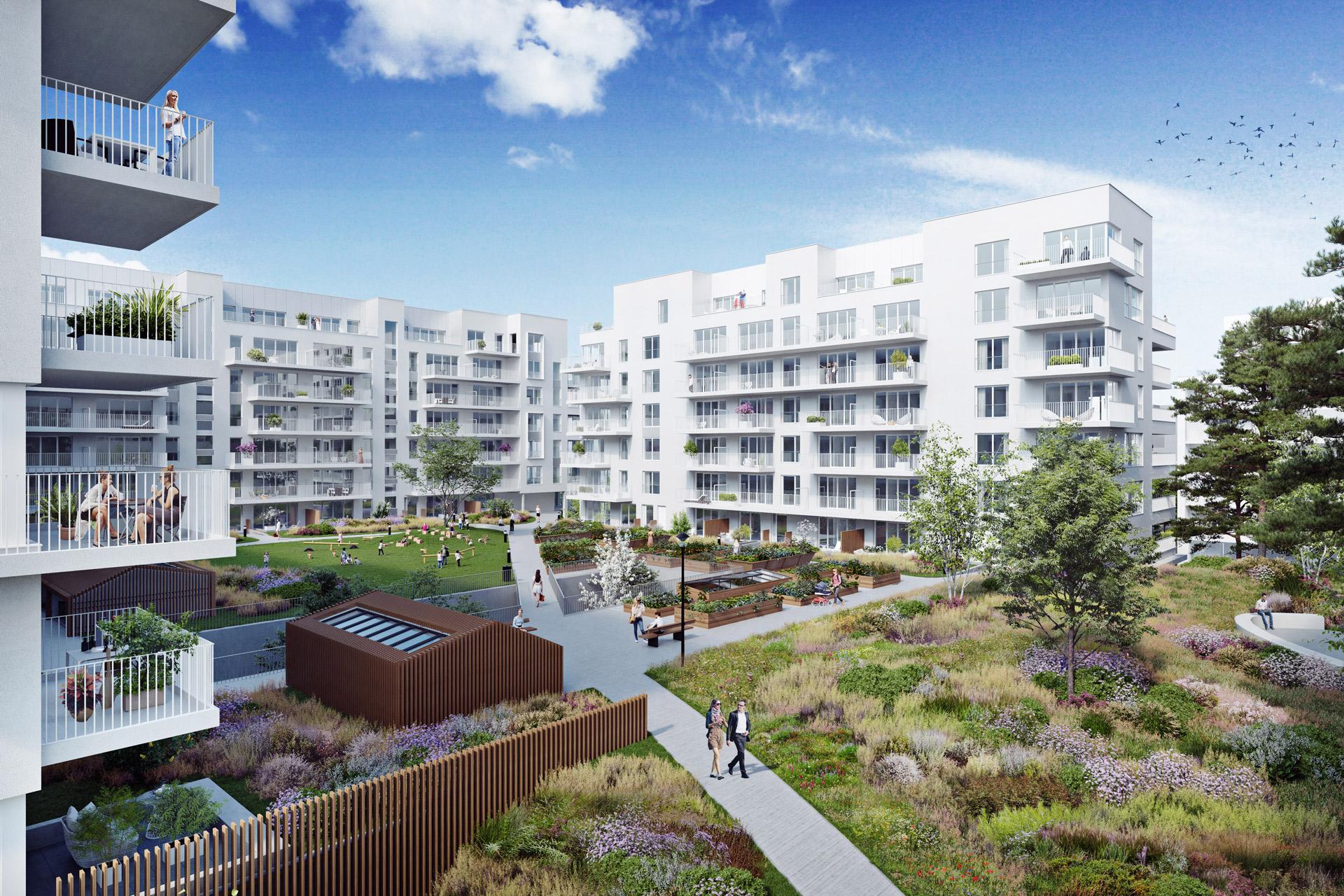 ATENOR Projet City Dox Bruxelles Vue Sur Jardin