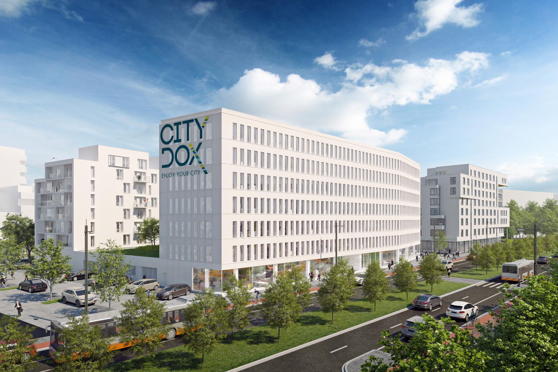 ATENOR Projet City Dox Bruxelles Vue De Coté