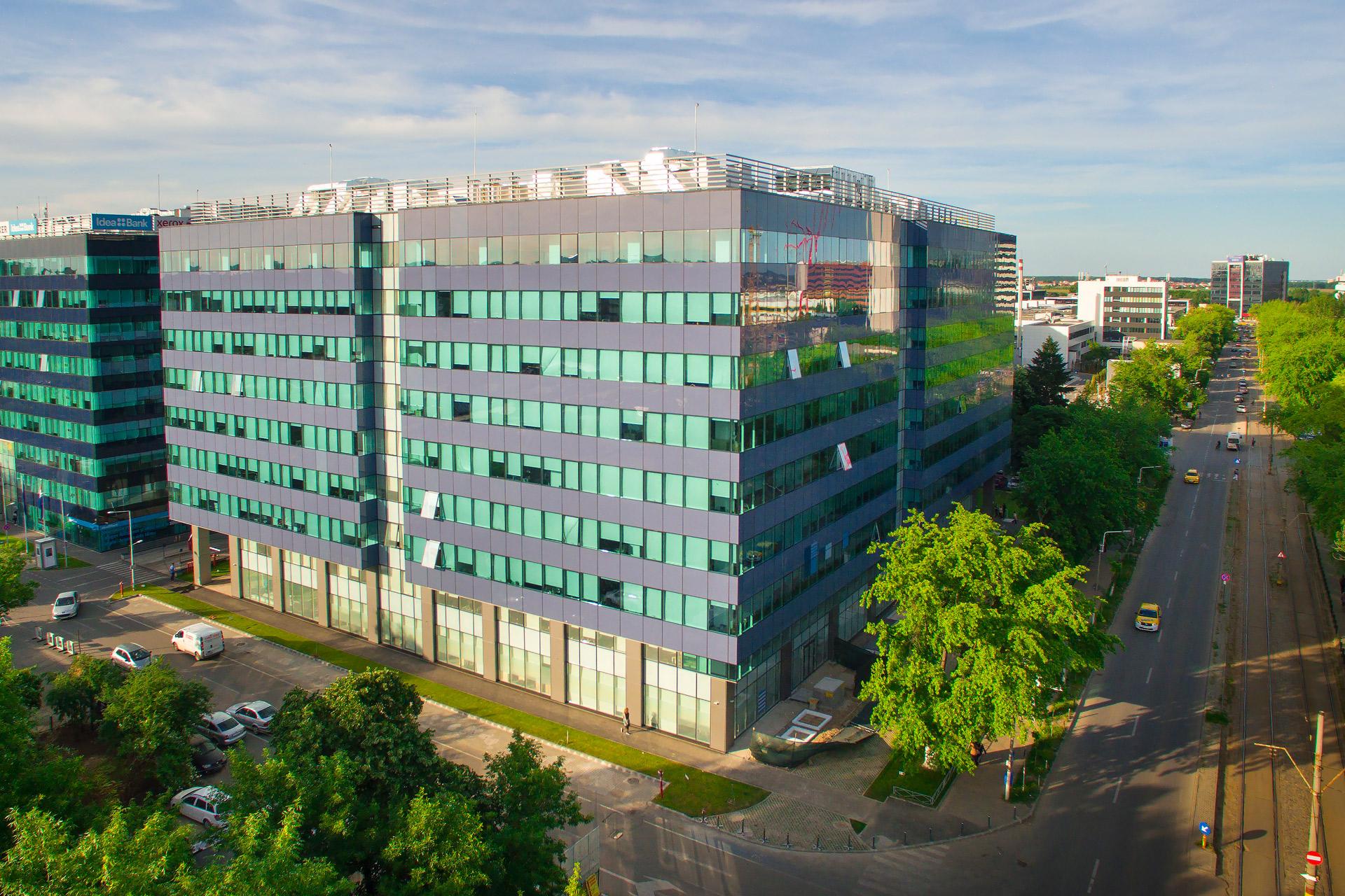ATENOR Projet Hermes Business Campus Bucarest Vue De Coté