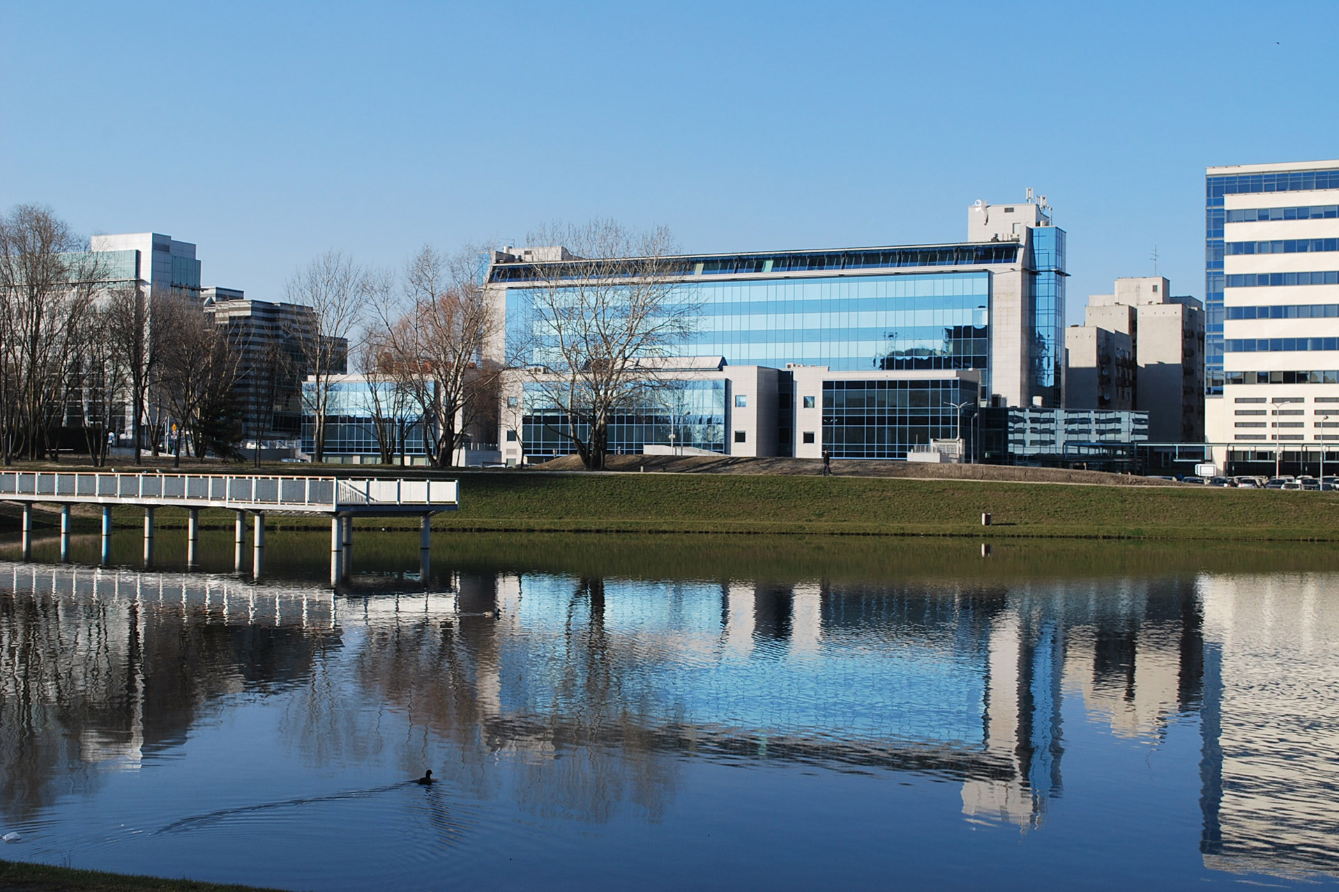 ATENOR Projet Univeristy Business Center Varsovie Vue Canal