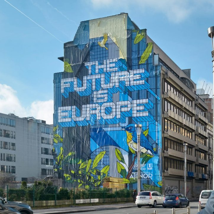 ATENOR The Future Is Europe Mural Schuman