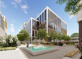 Arena Business Campus Budapest with courtyard